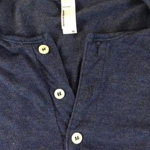 American Apparel Shirts - American Apparel Navy Short Sleeve Henley Tee